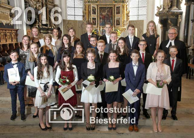 Konfirmation 2016 Stadtkirche Celle
